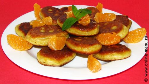 оладьи с мандарином и шоколадом