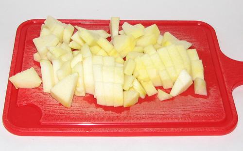 яблоки порезать