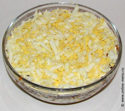 салат из грибов с консервой