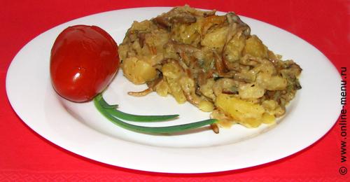 картофель тушеный с вешанками