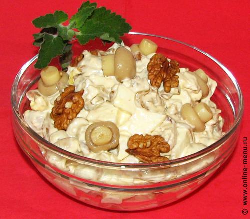 салат куриный с орехами