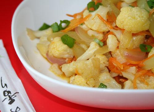 овощи в имбирном соусе
