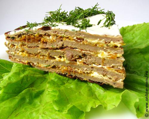 Печеночный торт — рецепт онлайн меню