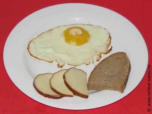 Завтрак холостяка за 5 минут - яичница глазунья