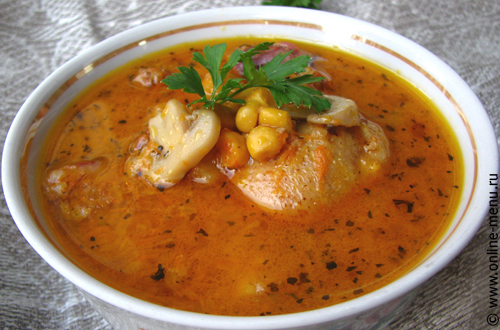 суп из утиных потрохов