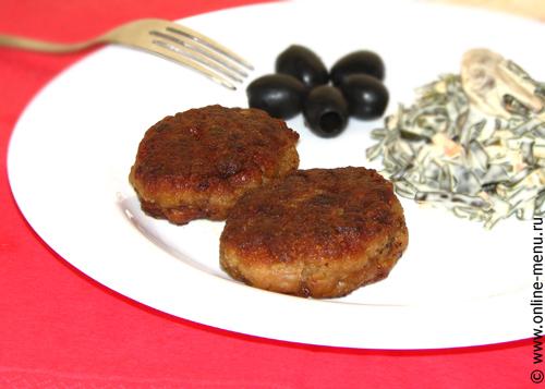 котлеты с кусочками мяса