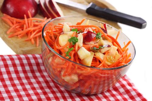 салат из яблок и моркови