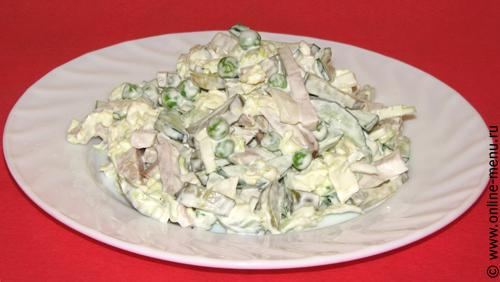 салат с бужениной и овощами
