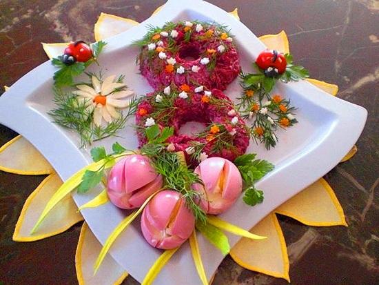 романтиченский салат на 8 марта