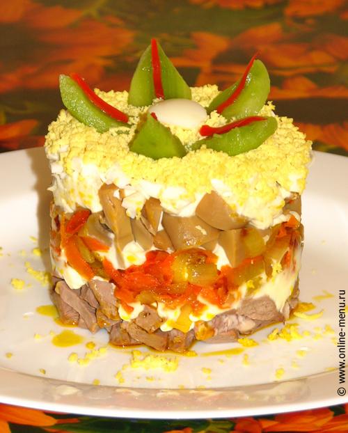 салат из сердца говяжьего телячьего
