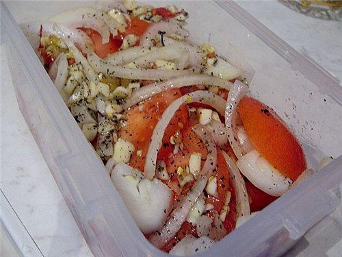 закуска из маринованных помидоров