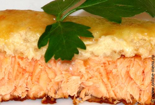 лосось, форель, семга с яблоками