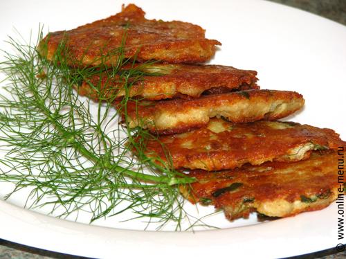 драники (деруны) с рыбой
