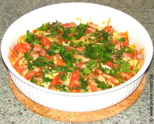 брокколи с ветчиной под сыром - рецепт