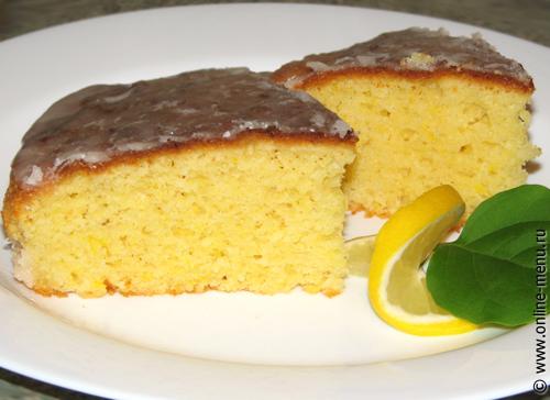 лимонный пирог с кукурузной мукой