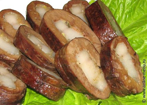 печеночные рулеты с салом