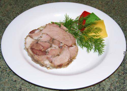пасхальное мясо, мясной рулет, буженина